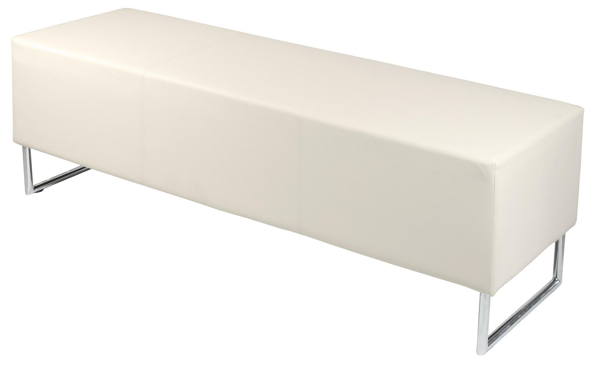 Blockette Modern Bench Seat Ivory Fabulous