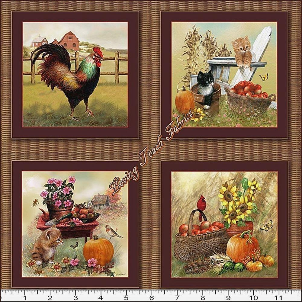 Blocks Spx Autumn Bounty Fall Rooster Cats