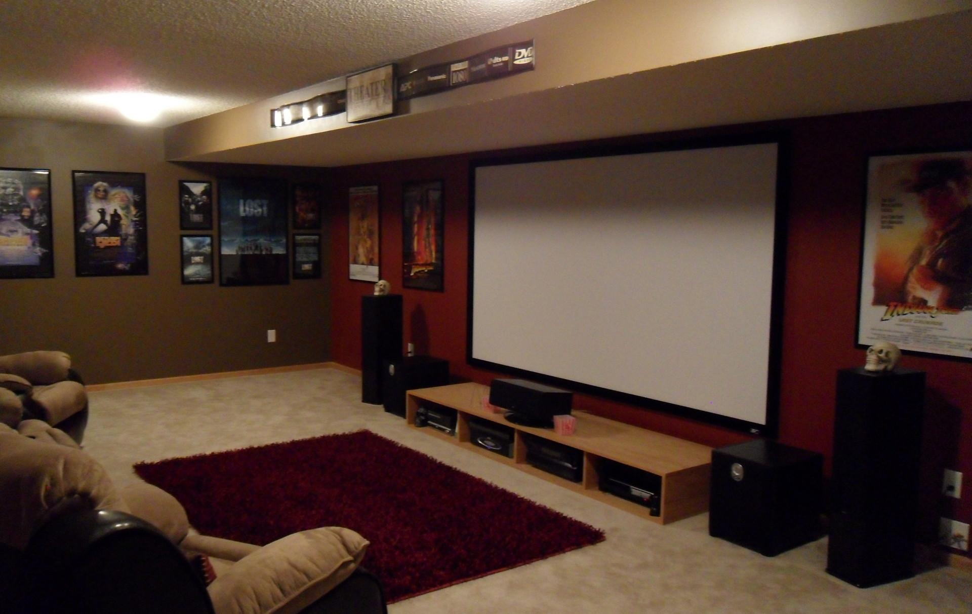 Blubrown Home Theater Basement