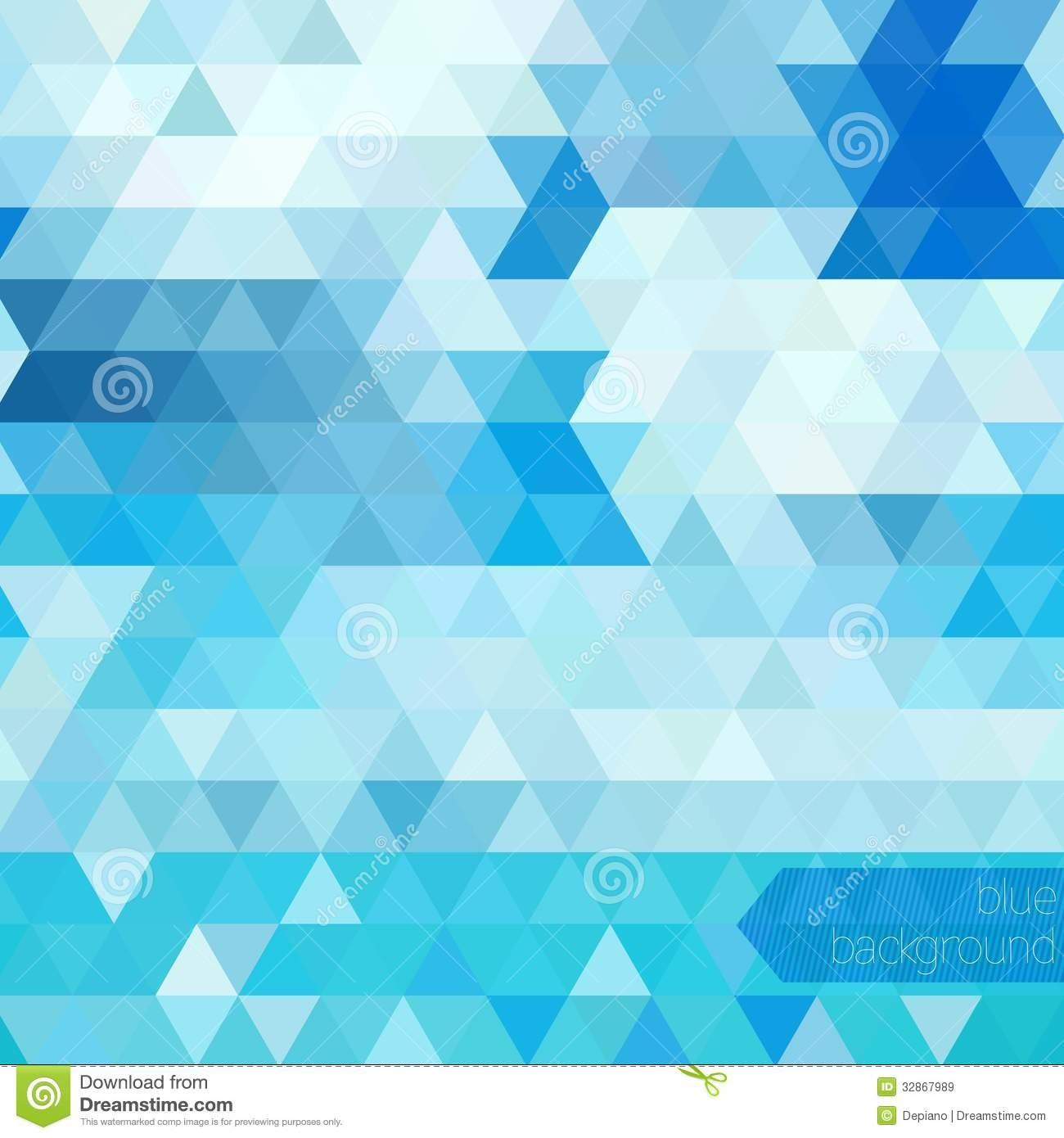 Blue Abstract Geometric Royalty Stock