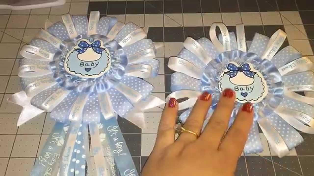 Blue Baby Shower Corsage Diy Yourself