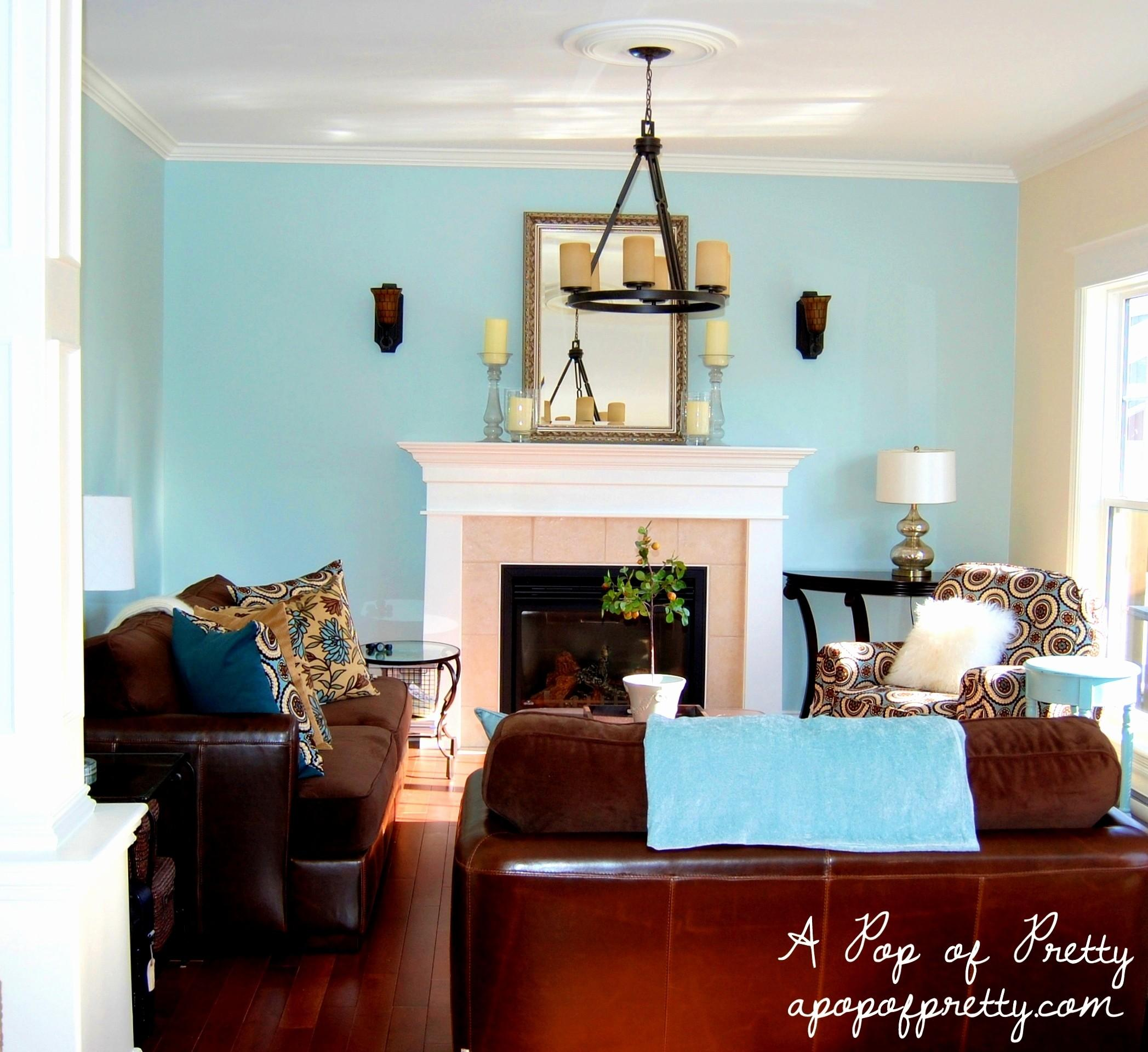 Blue Brown Living Room Decorating Ideas New Furniture