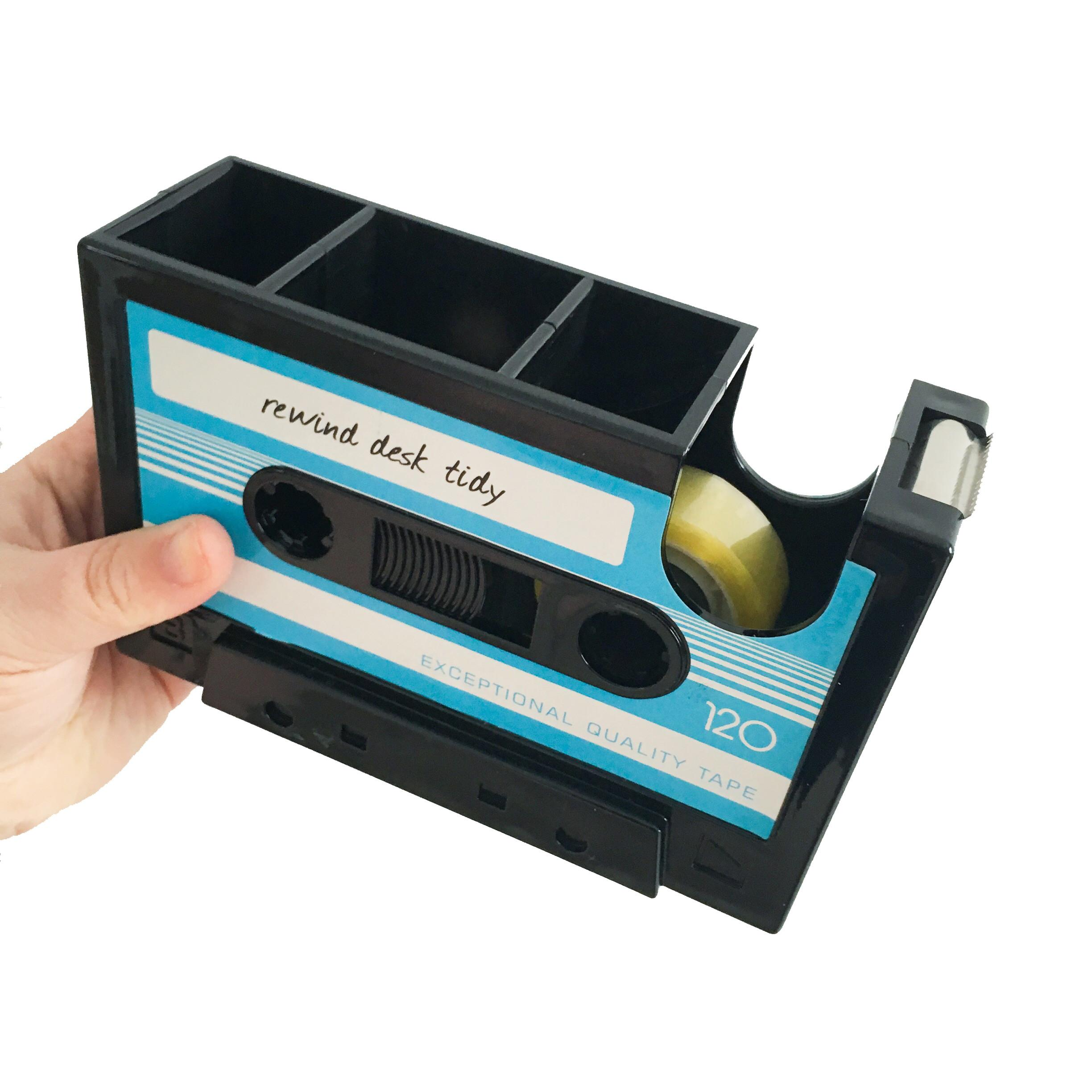 Blue Cassette Tape Desk Tidy Dispenser Mrsbrimbles