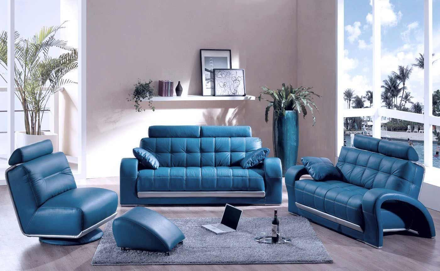 Blue Couches Decor Living Room