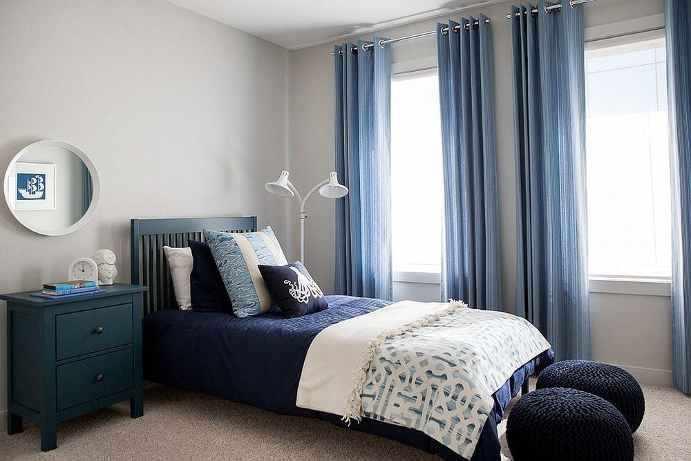 Blue Drapes Curtain Ideas Stunning Modern