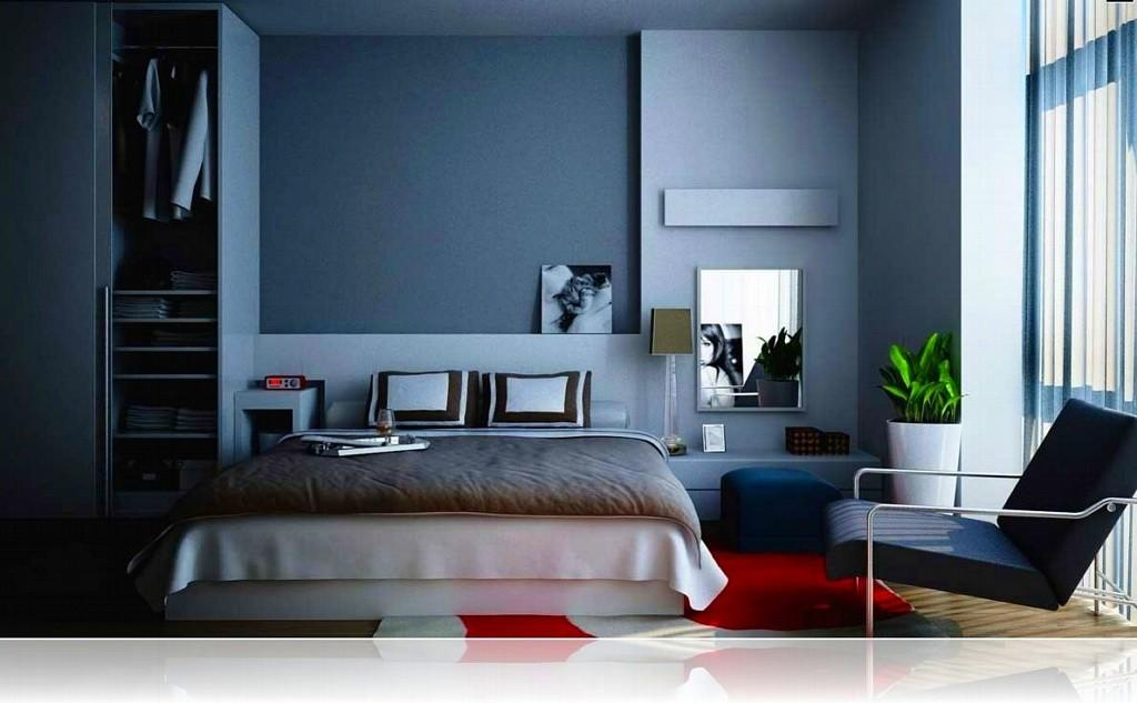 Blue Gray Bedroom Cor Grey Paint Colors