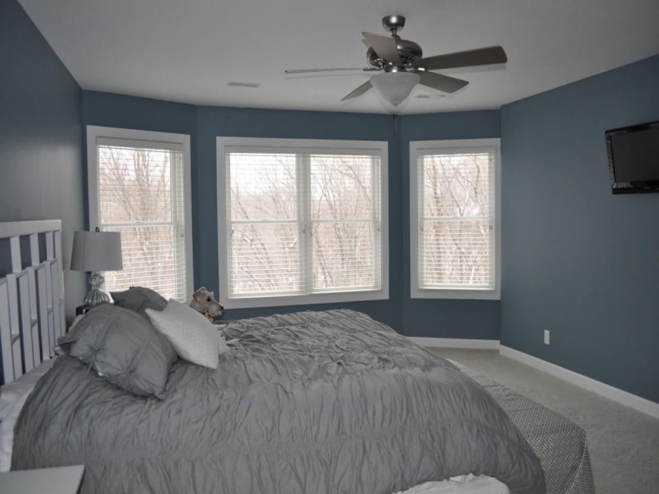 Blue Gray Bedroom Walls Yellow
