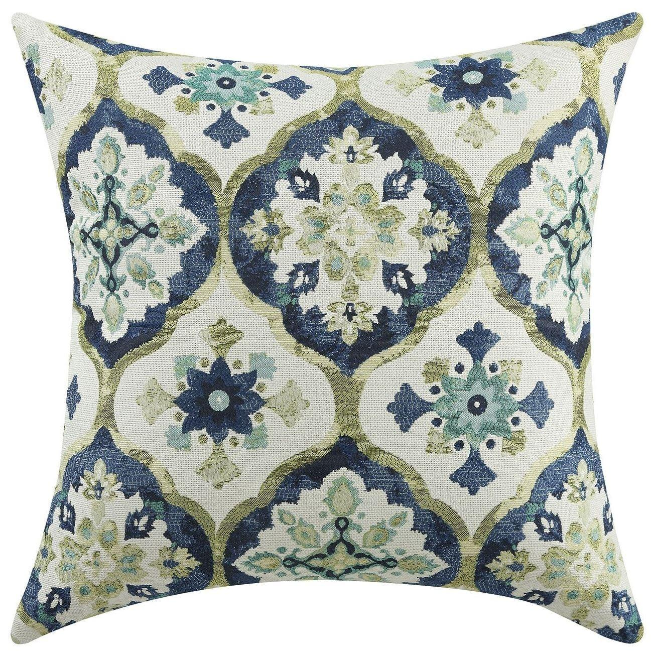 Blue Green Kaleidoscope Accent Pillow Set