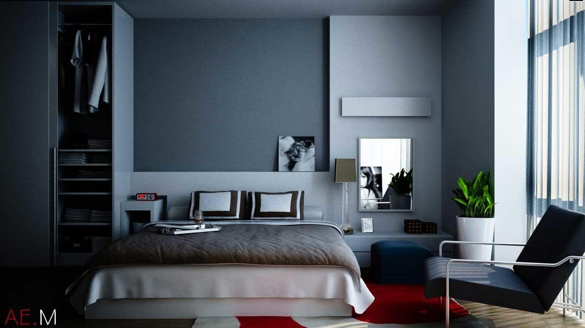 Blue Grey Bedroom Design Ideas
