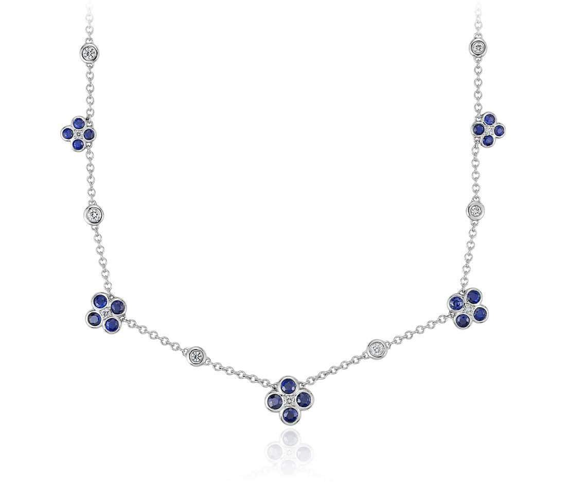 Blue Nile Studio Something Sapphire Diamond Floral