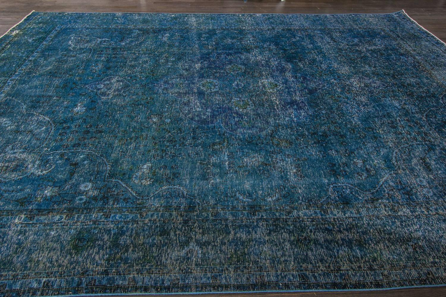 Blue Overdyed Rug Sale 1stdibs