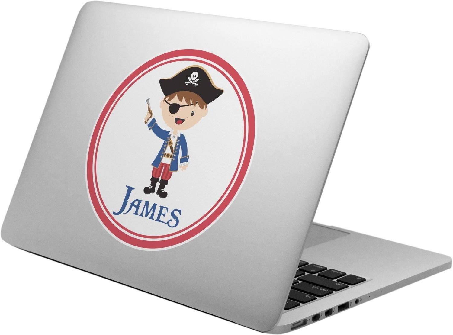 Blue Pirate Laptop Decal Personalized Youcustomizeit