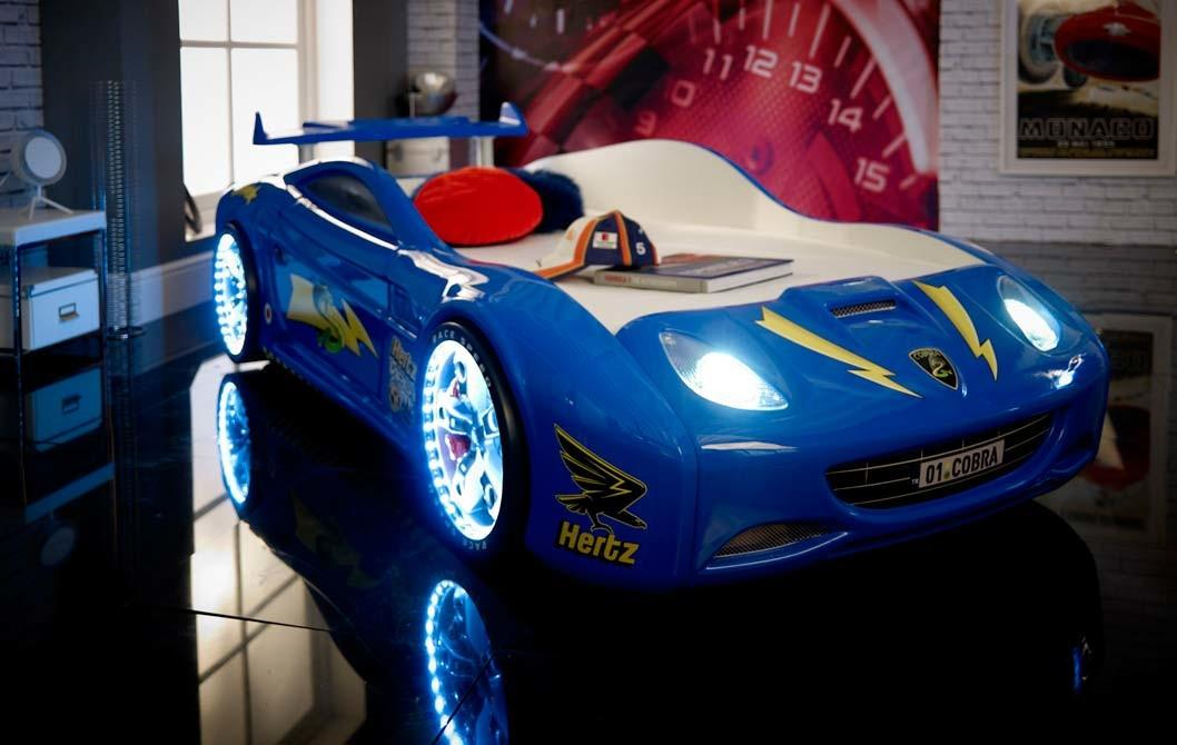 Blue Race Car Toddler Bed Sports