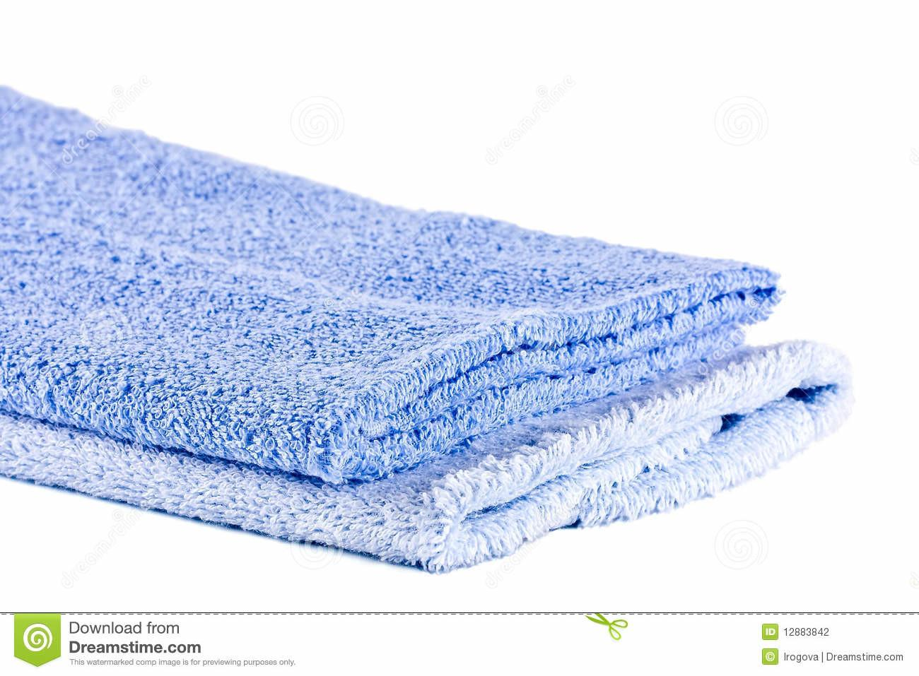 Blue Soft Fluffy Towels Stock Photography