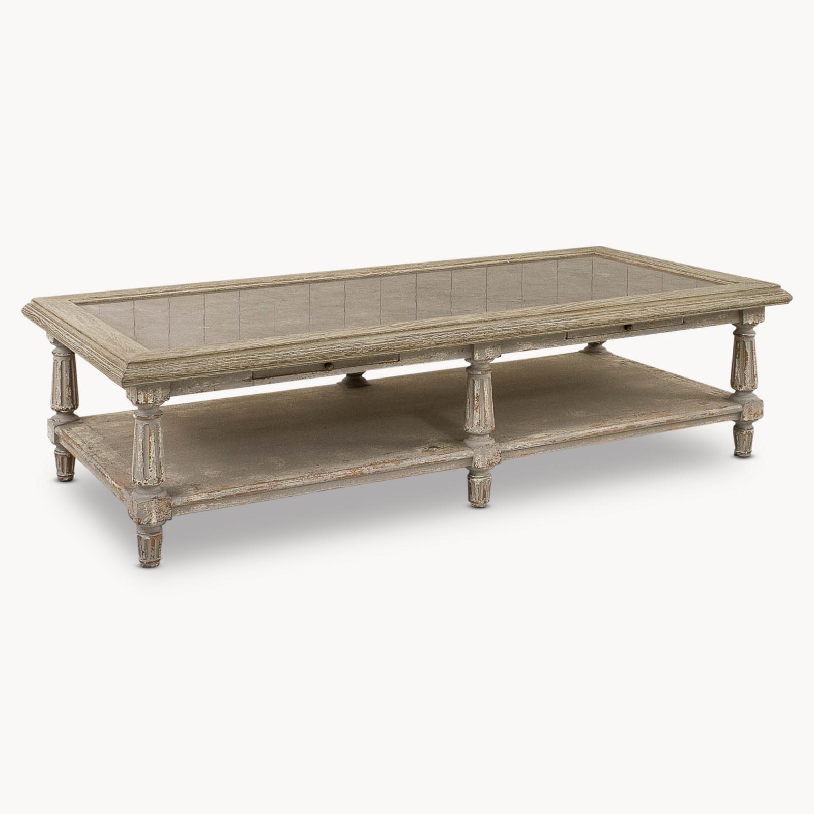 Blue Stone Topped Coffee Table