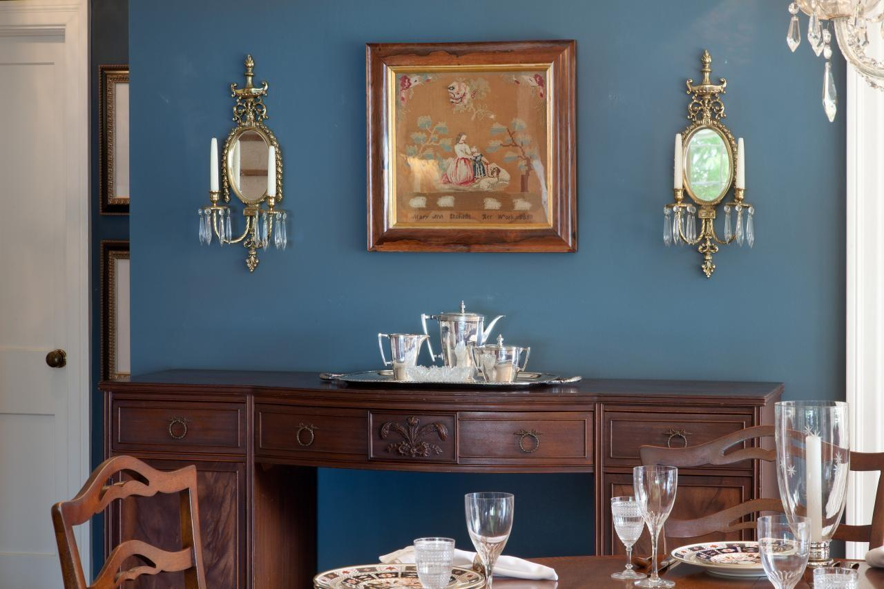 Blue Traditional Dining Room Photos