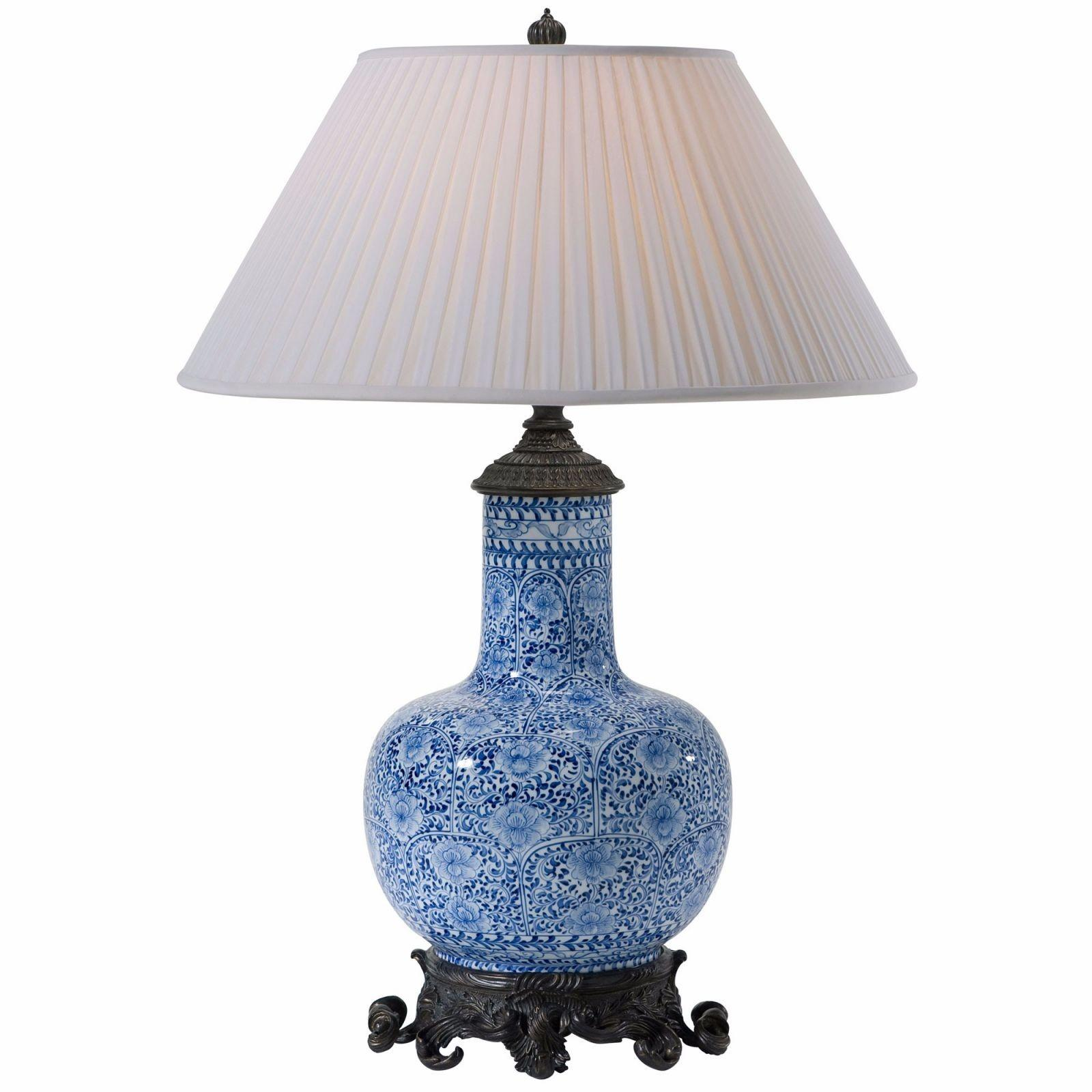 Blue White Ceramic Table Lamp Lamps