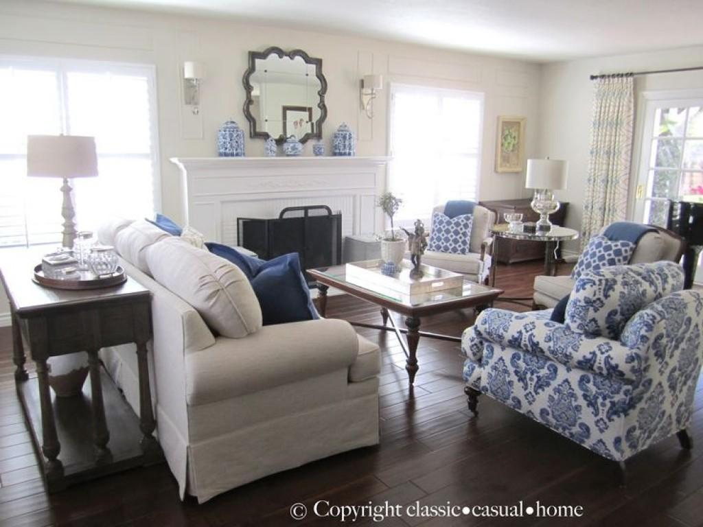 Blue White Living Room Decorating Ideas