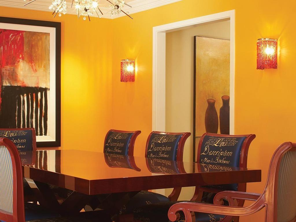 Blue Yellow Red Room Simple Dining