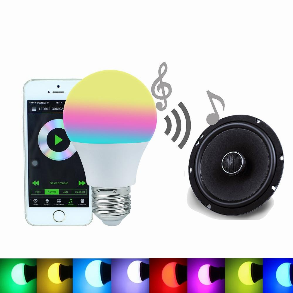 Bluetooth Smart Led Light Bulb Rgbw Smartphone