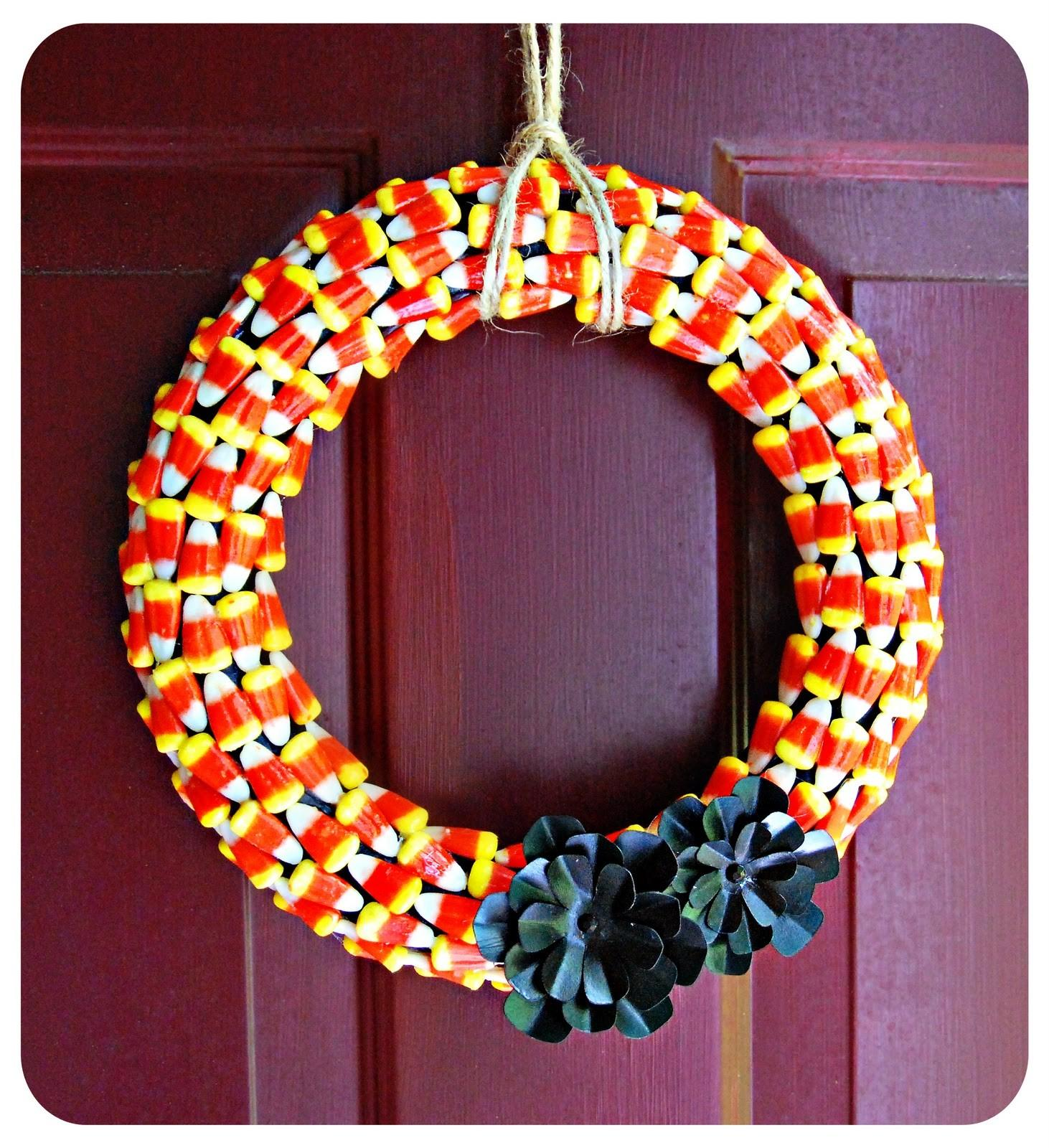 Blushing Bee Halloween Wreath Diy Craft