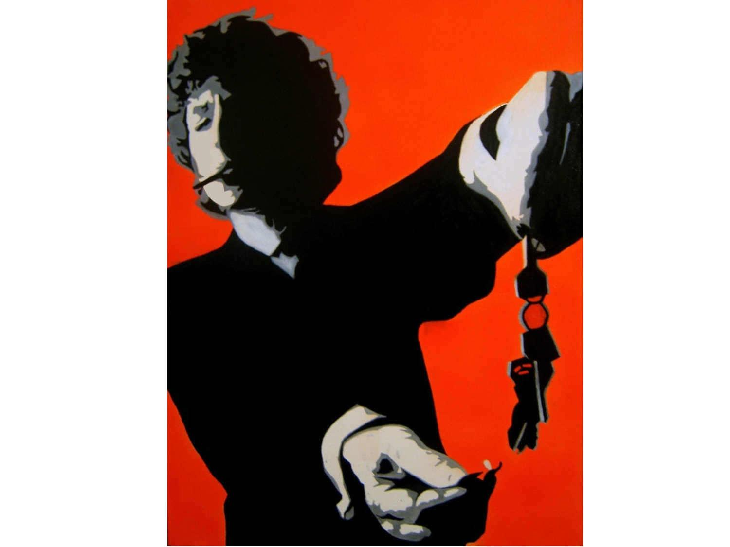 Bob Dylan Painting Inches Pop Art