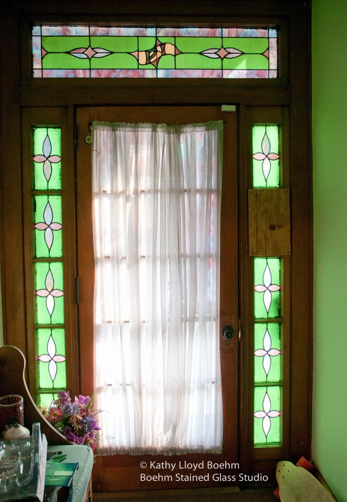 Boehm Stained Glass Blog Front Door Panel