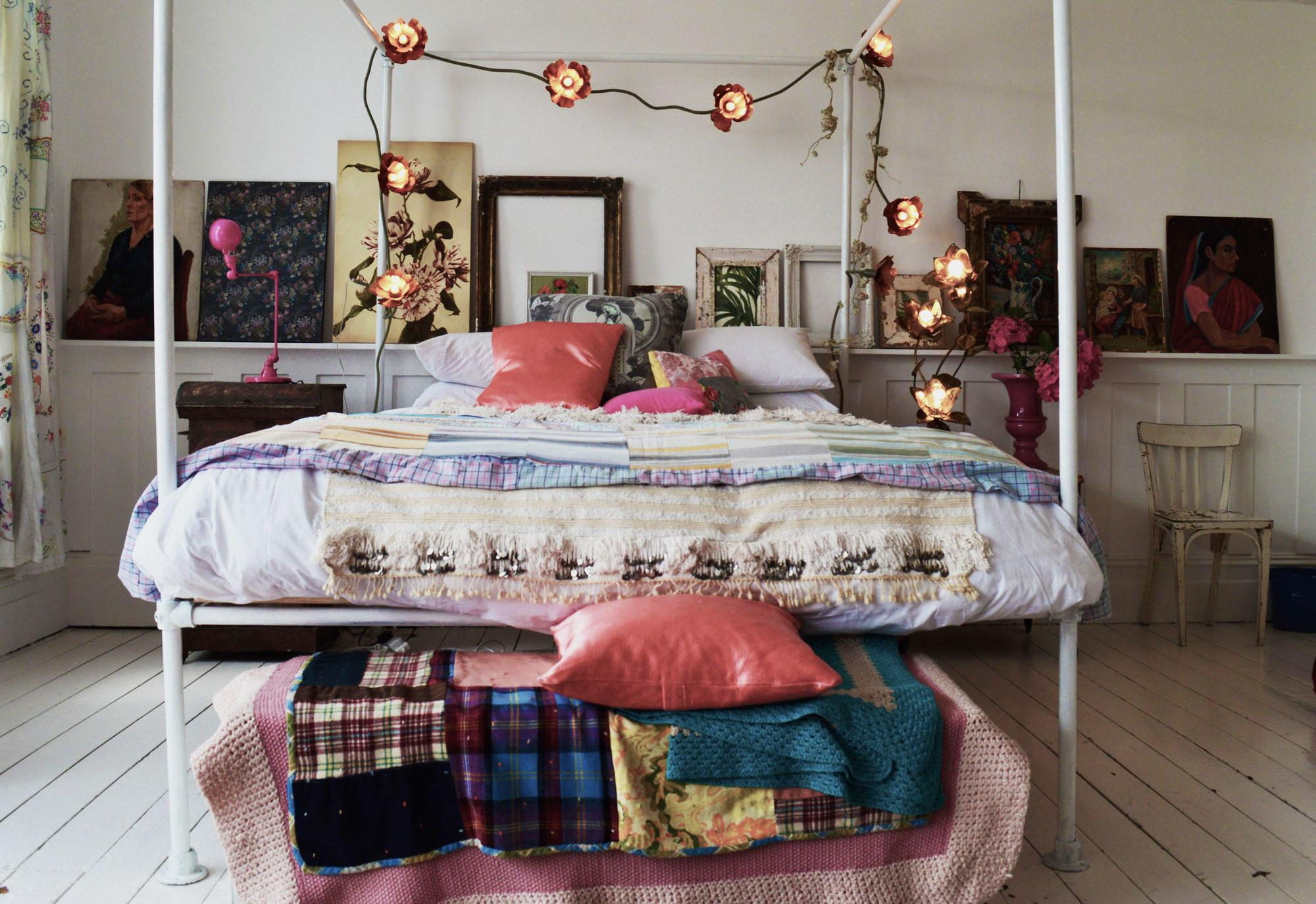 Bohemian Bedroom Inspiration Four Poster Beds Boho