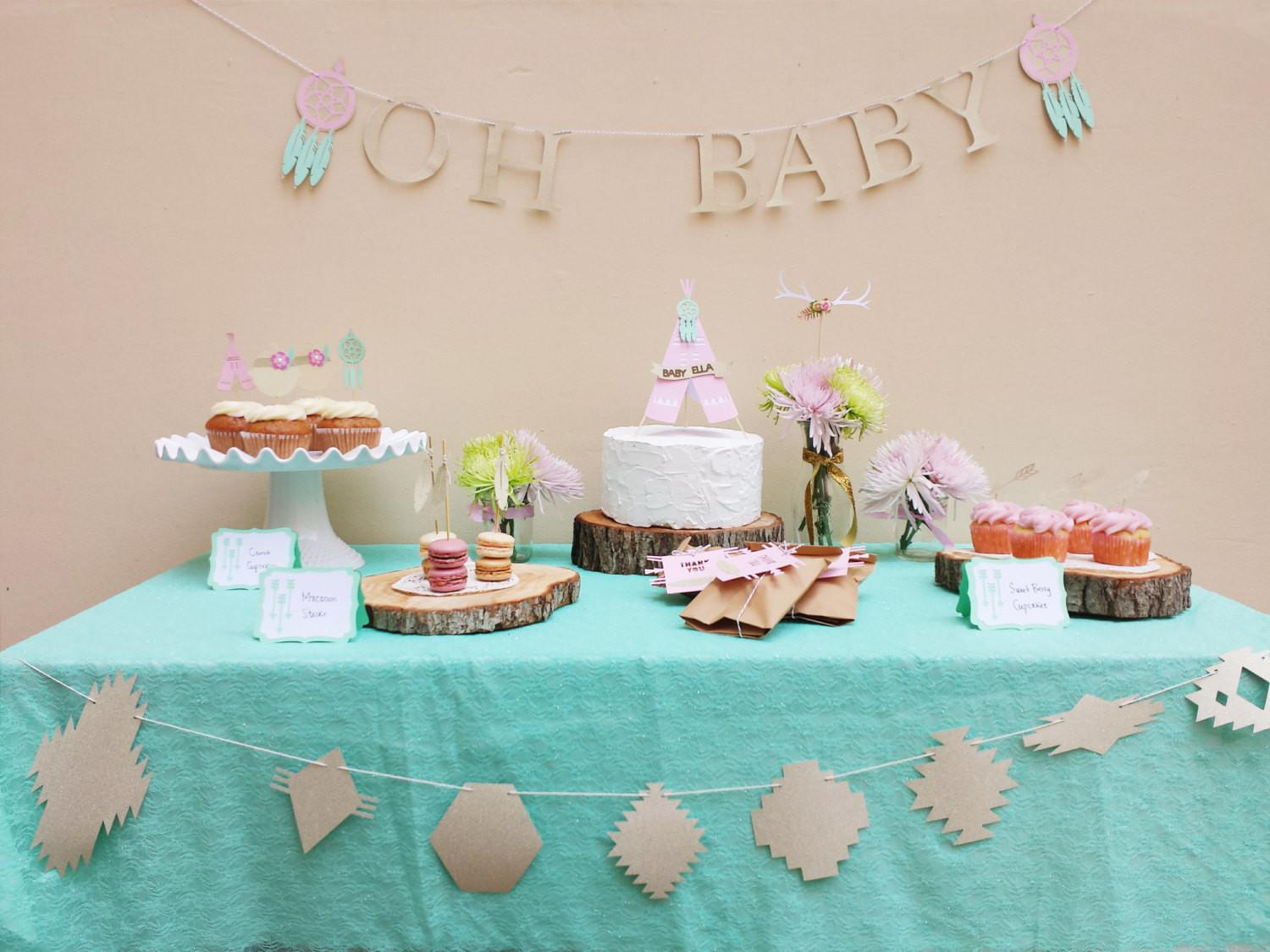 Boho Chic Baby Shower Decorations Package Southwestern