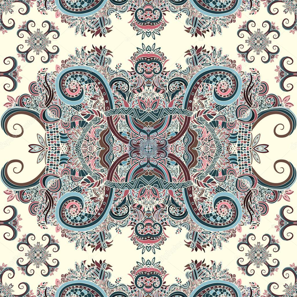 Boho Ornament Texture Ethnic Ornamental Floral Abstract