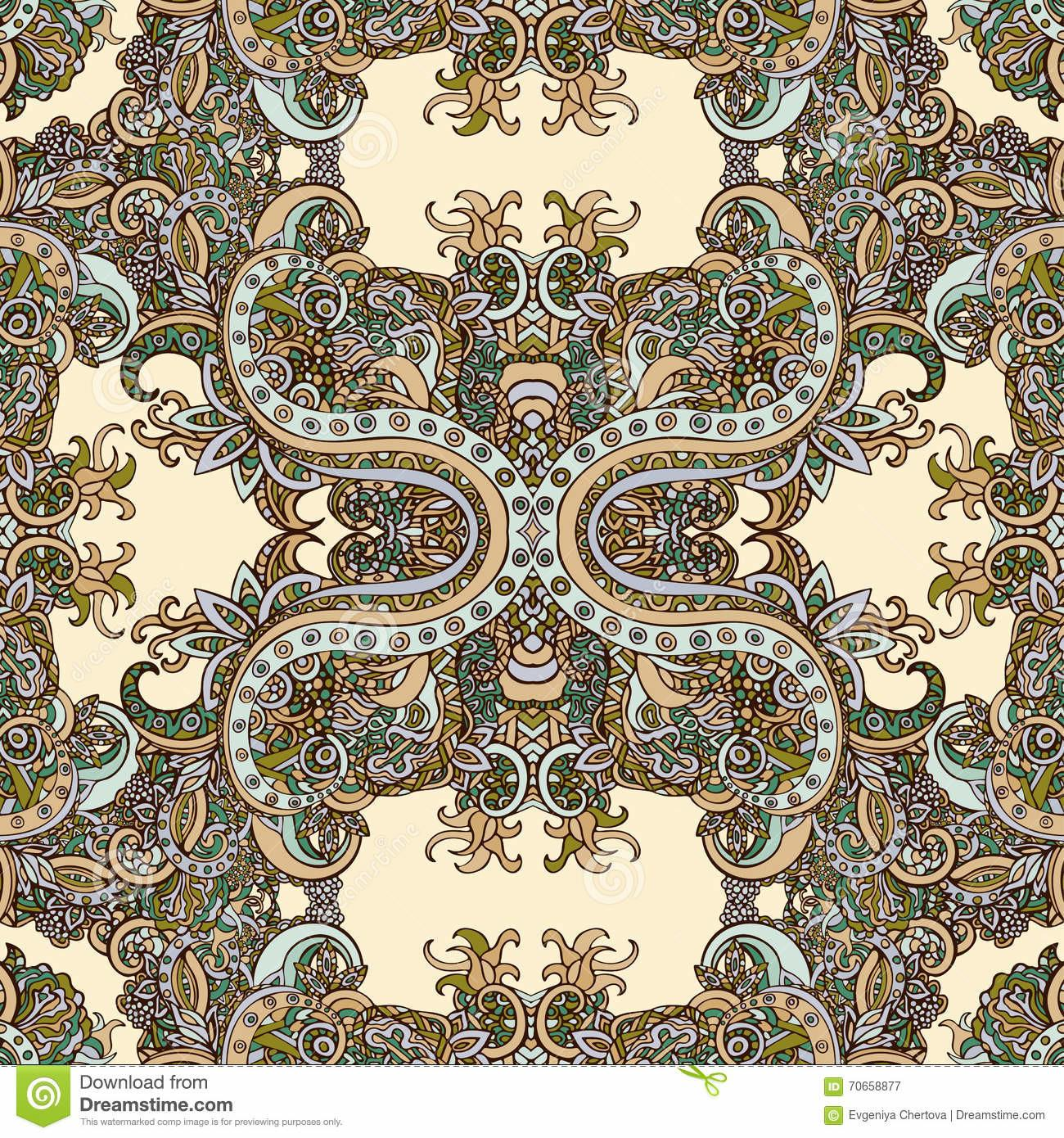 Boho Style Ethnic Ornament Seamless Pattern Abstract