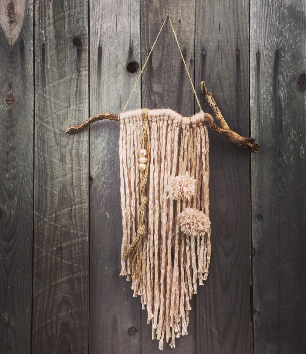 Boho Yarn Wall Hanging Home Decor Tassel Wind Chime