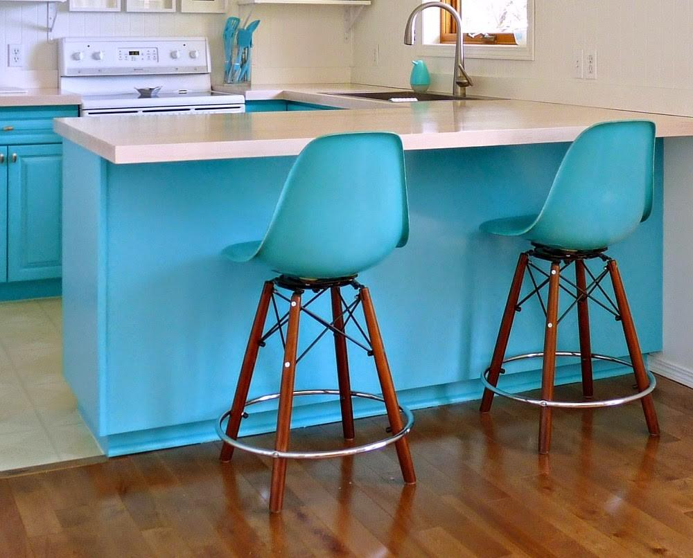 Bold Colored Turquoise Bar Stools Today Cabinet Hardware