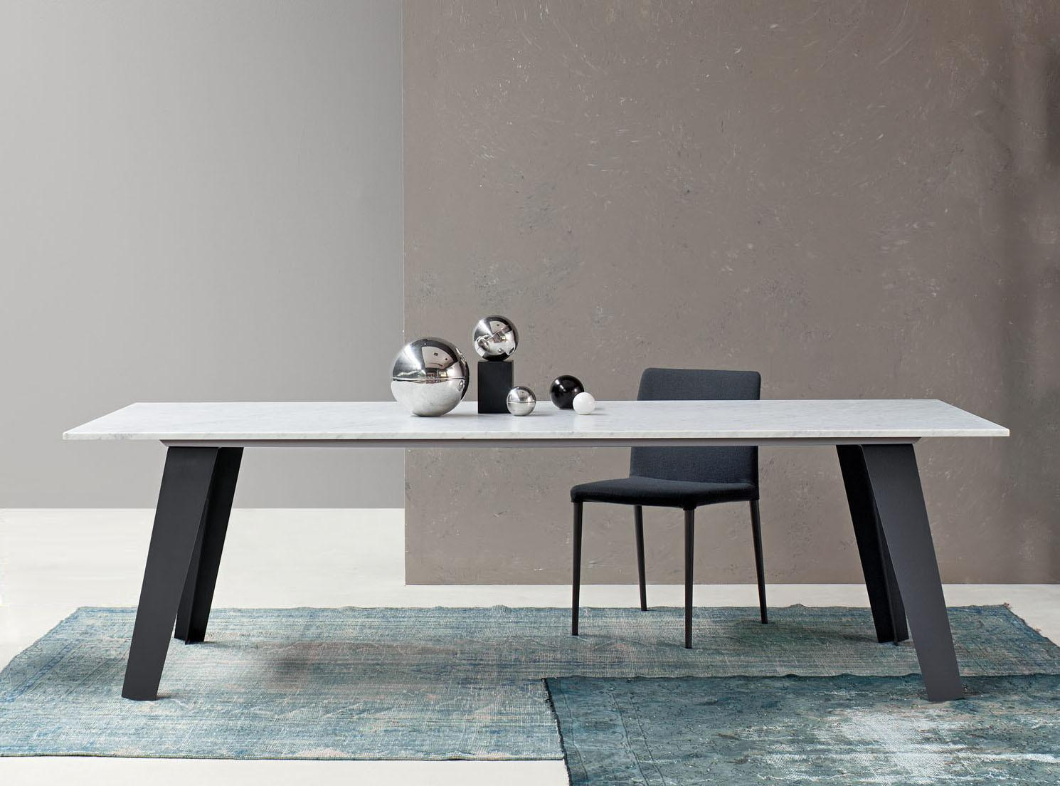Bonaldo Welded Marble Dining Table Contemporary