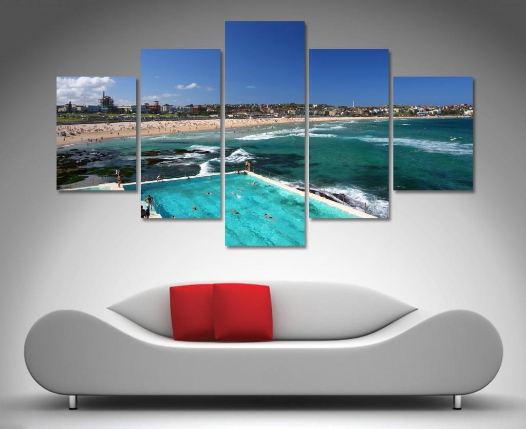 Bondi Beach Panel Wall Art Canvas Printing Australia