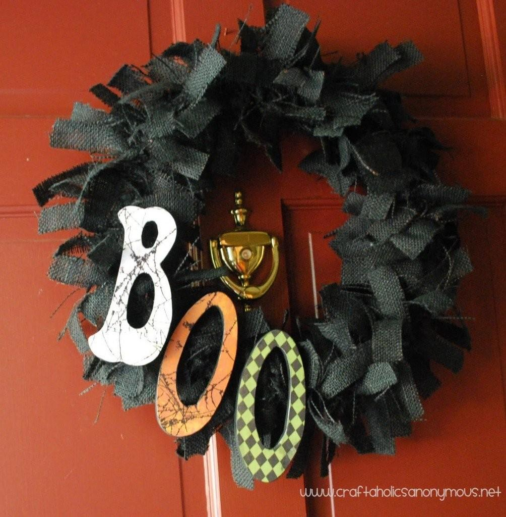 Boo Diy Wreath Tutorial Halloween Decorating Ideas