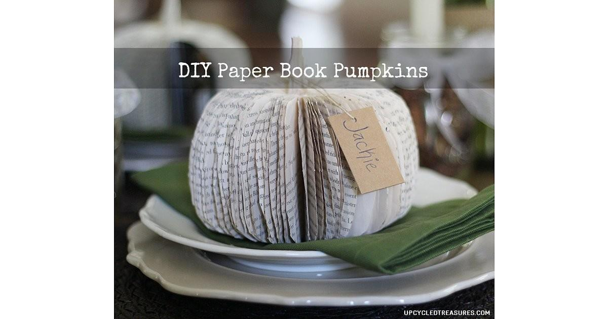 Book Pages Ways Decorate Pumpkins Without Carving
