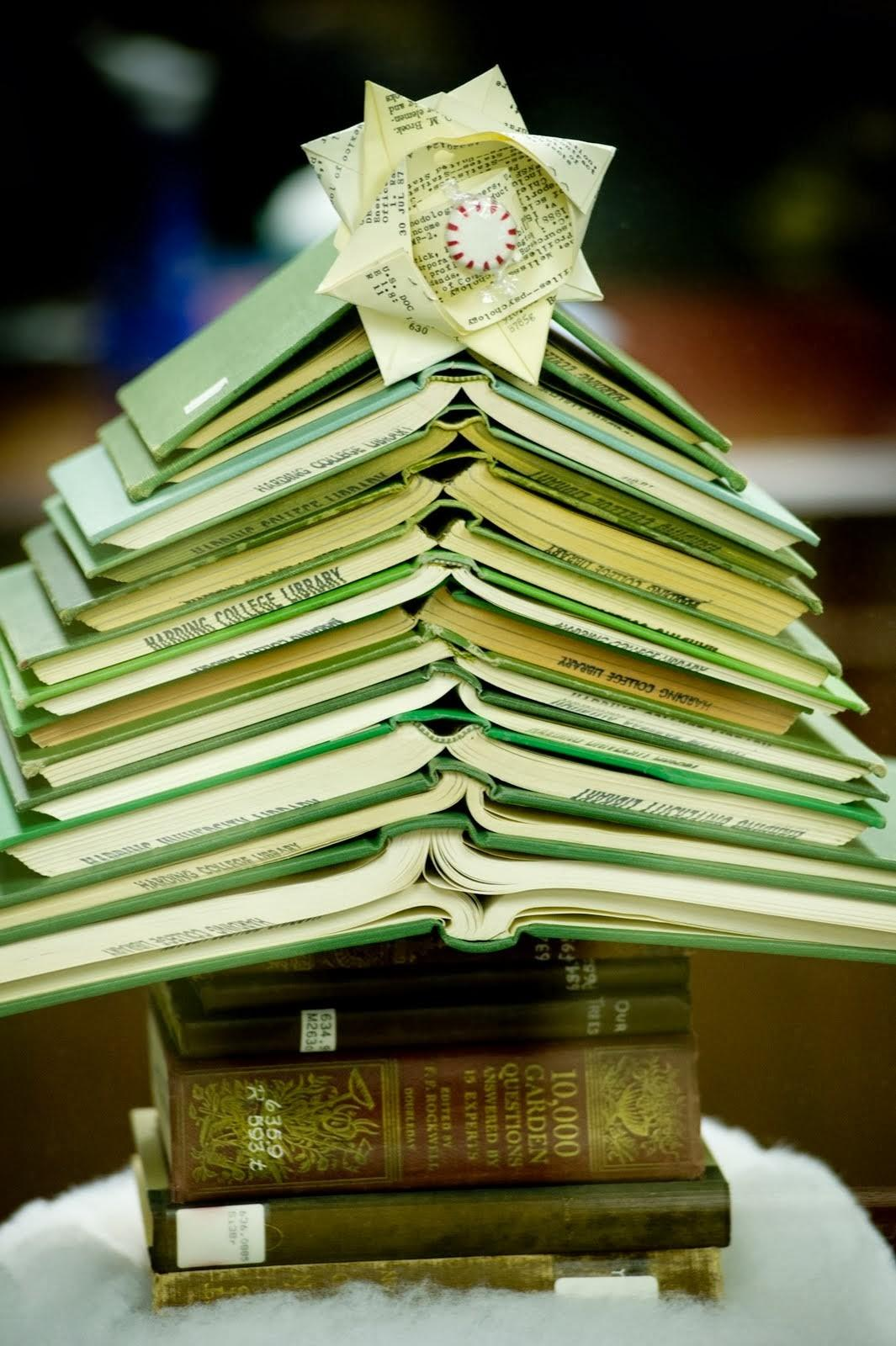 Book Puke Christmas Trees Made Out Books