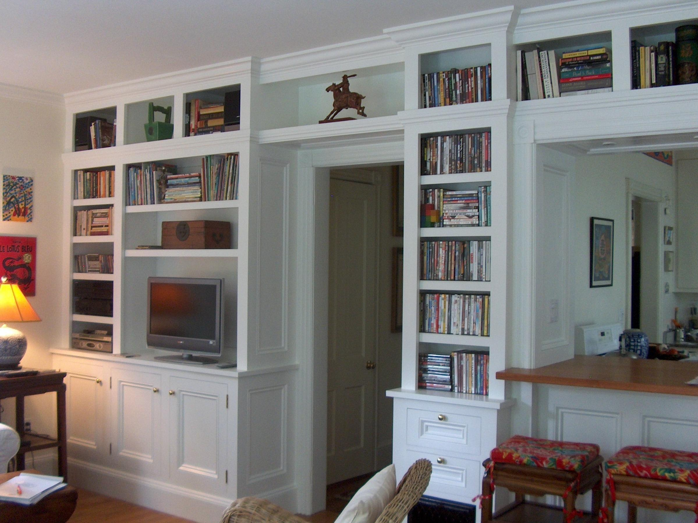 Bookcase Built Media Cabinet