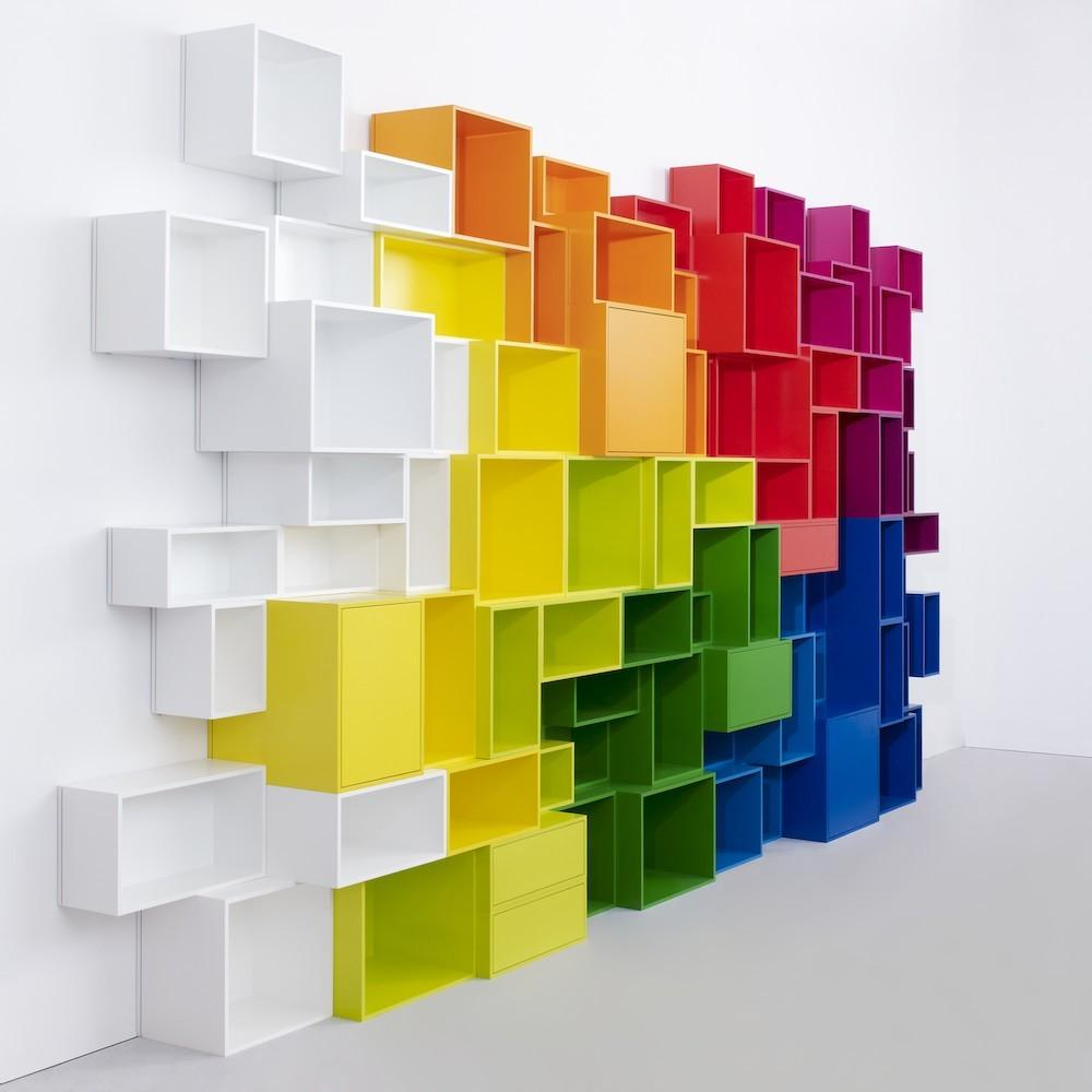 Bookcase Cubes Wall Shelving Systems Office