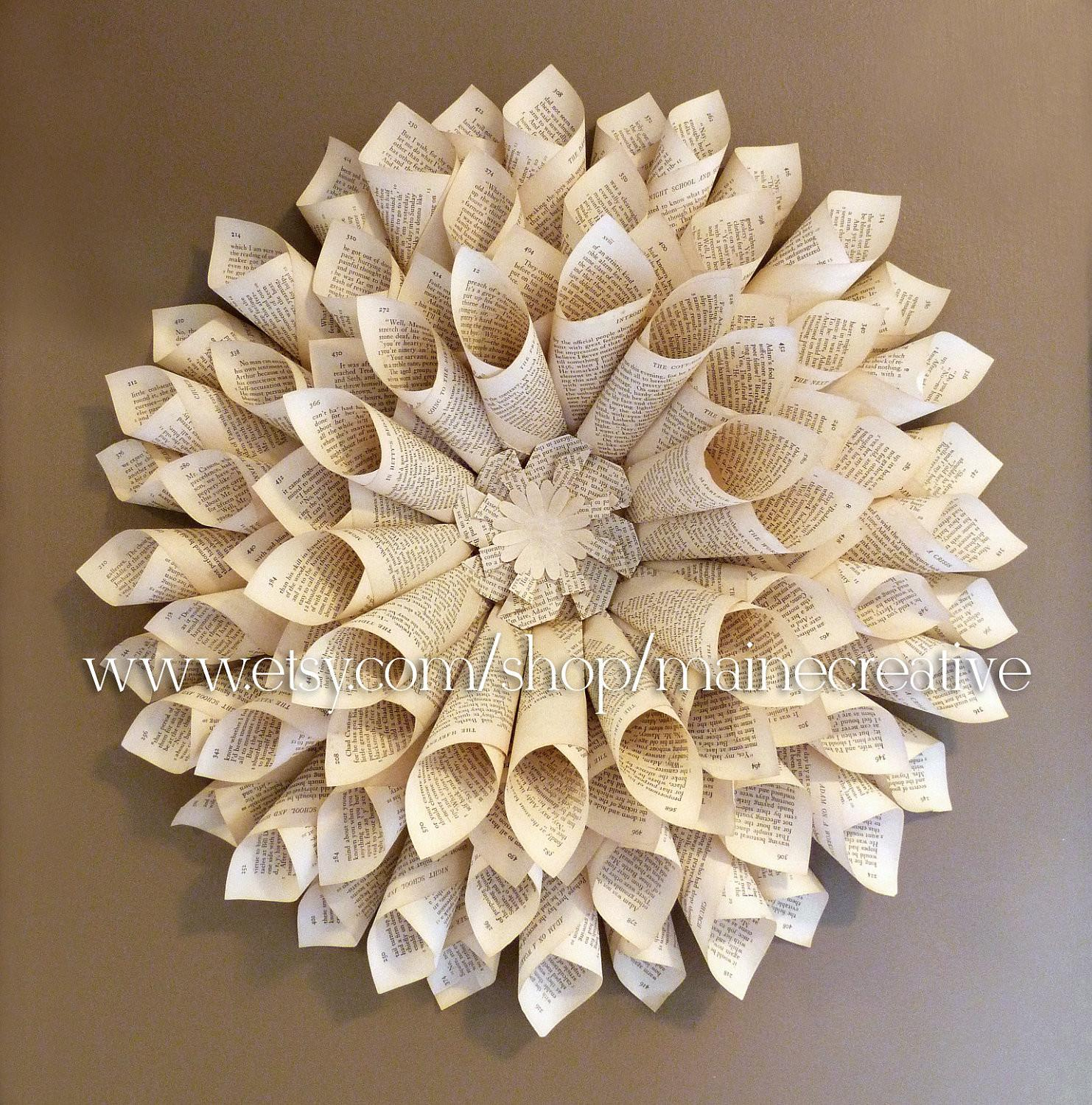 Bookpage Wallflower Dimensional Eco Friendly Recycled Wall