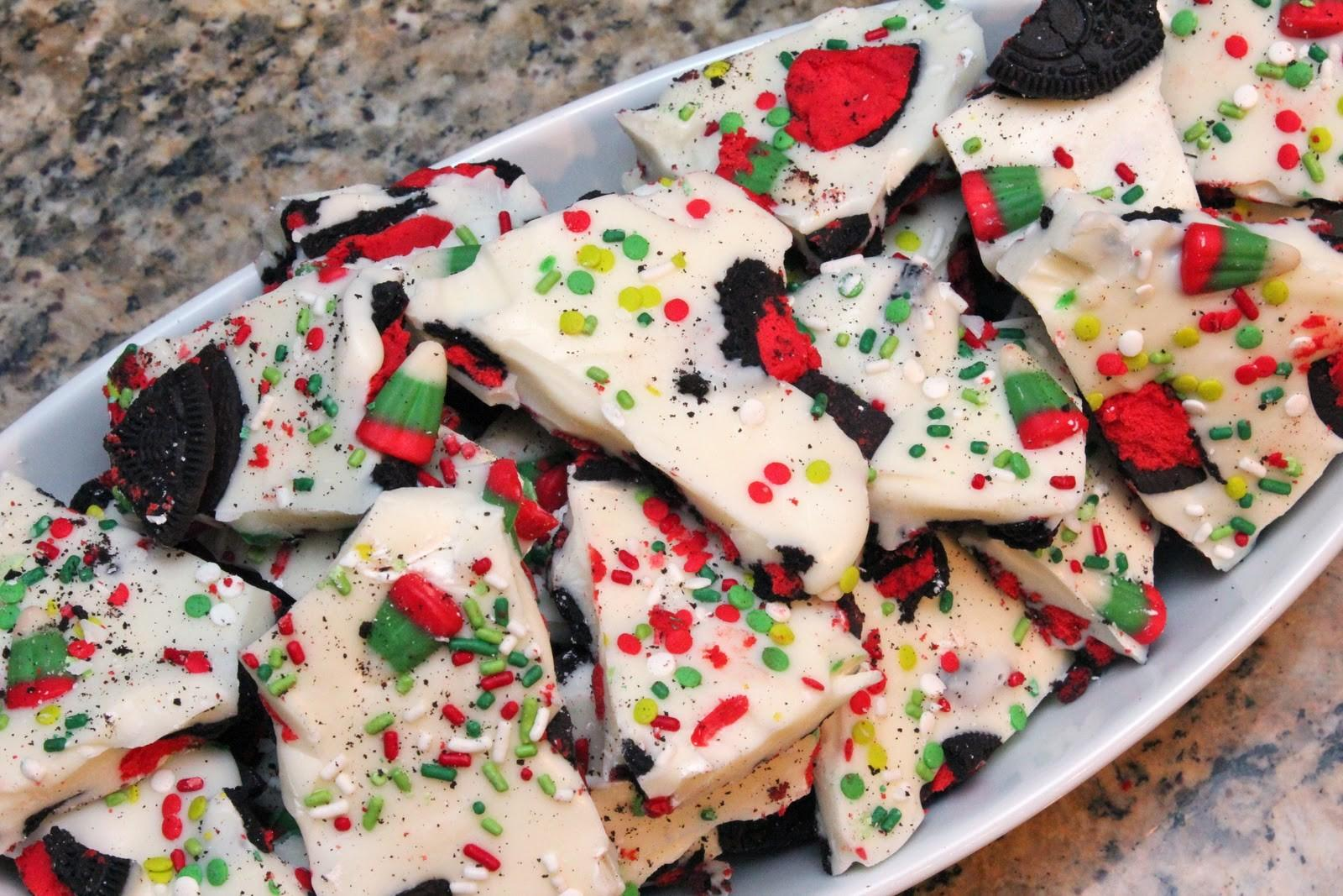 Booturtle Show Tell Christmas Candy Corn Oreo Bark