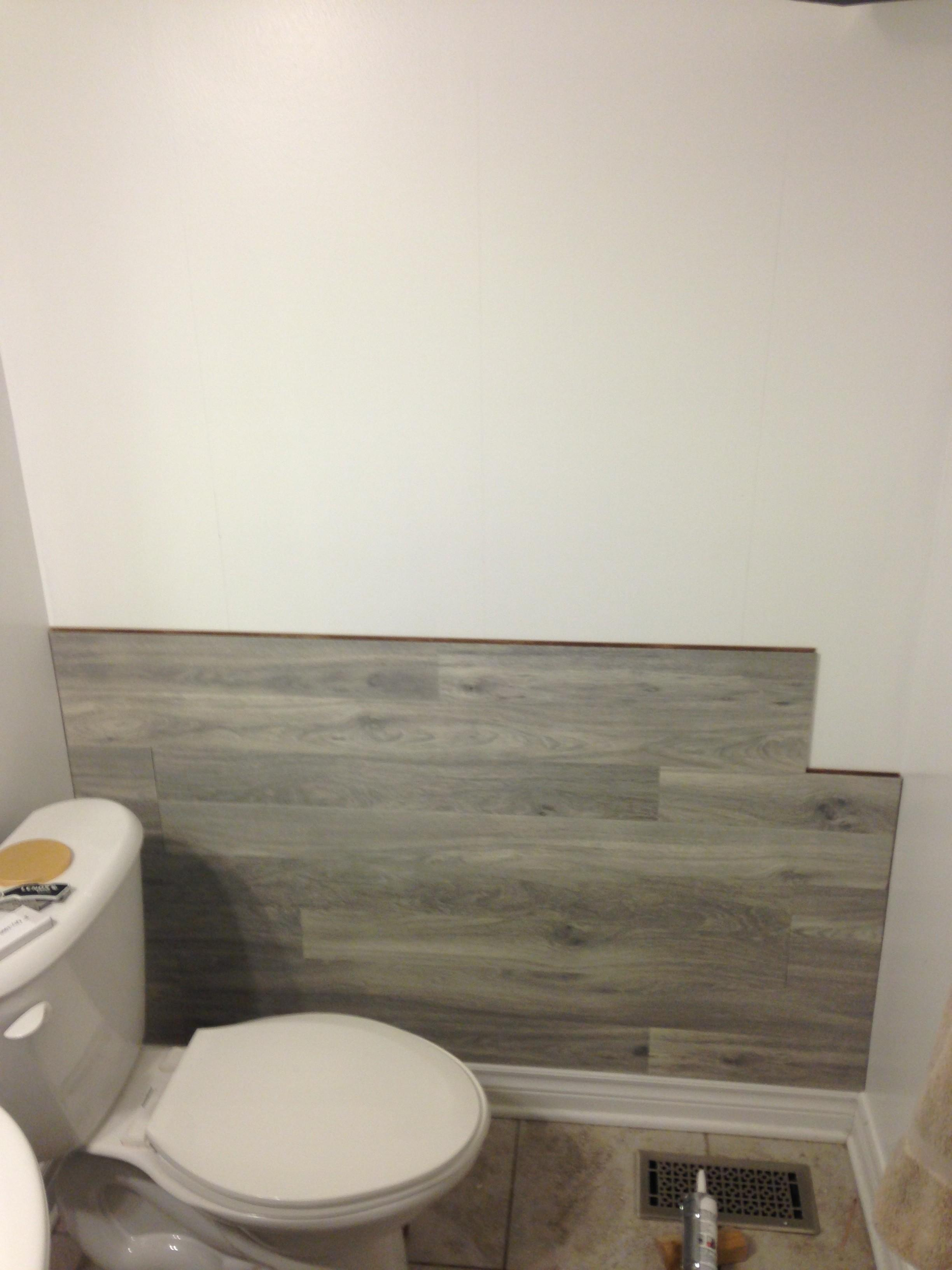 Bored Floored Laminate Floor Accent Wall Diy Keepstead