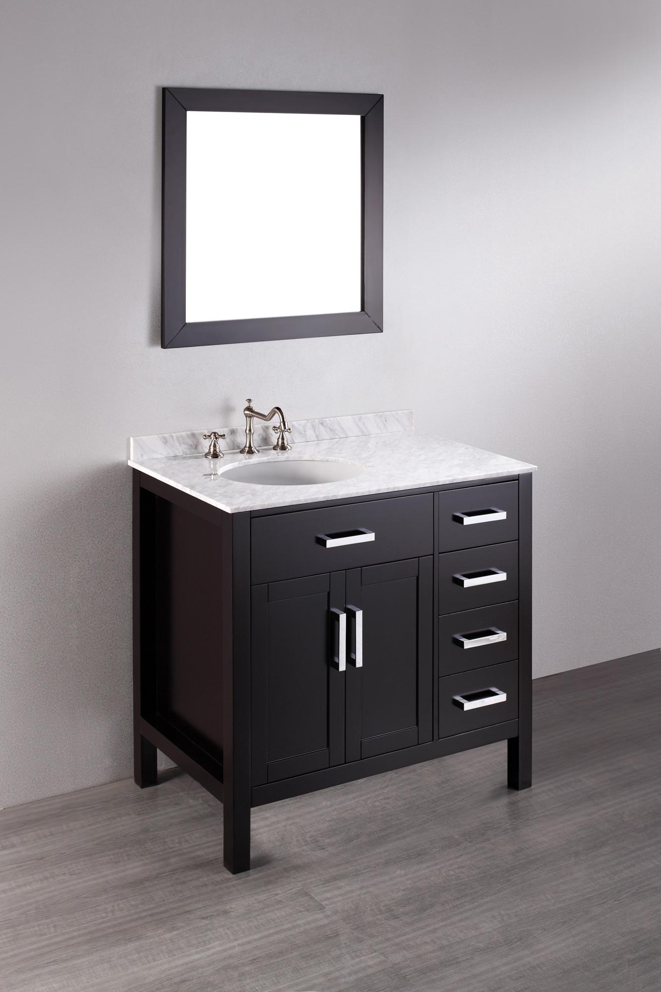 Bosconi Inch Contemporary Single Sink Bathroom Vanity