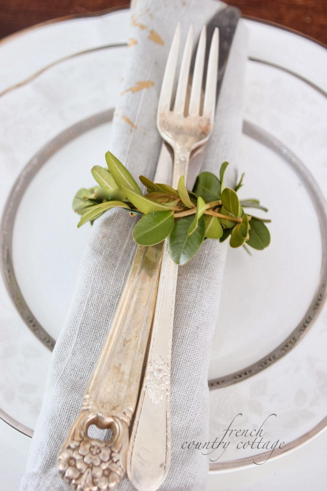 Boxwood Napkin Rings Diy French Country Cottage