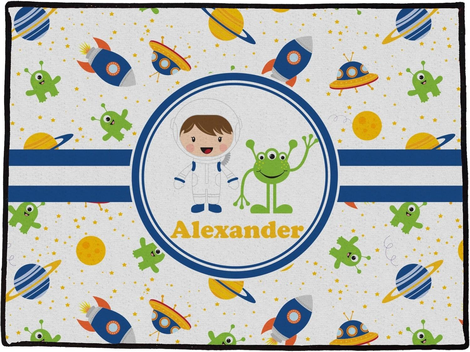 Boy Space Themed Doormat X18 Personalized