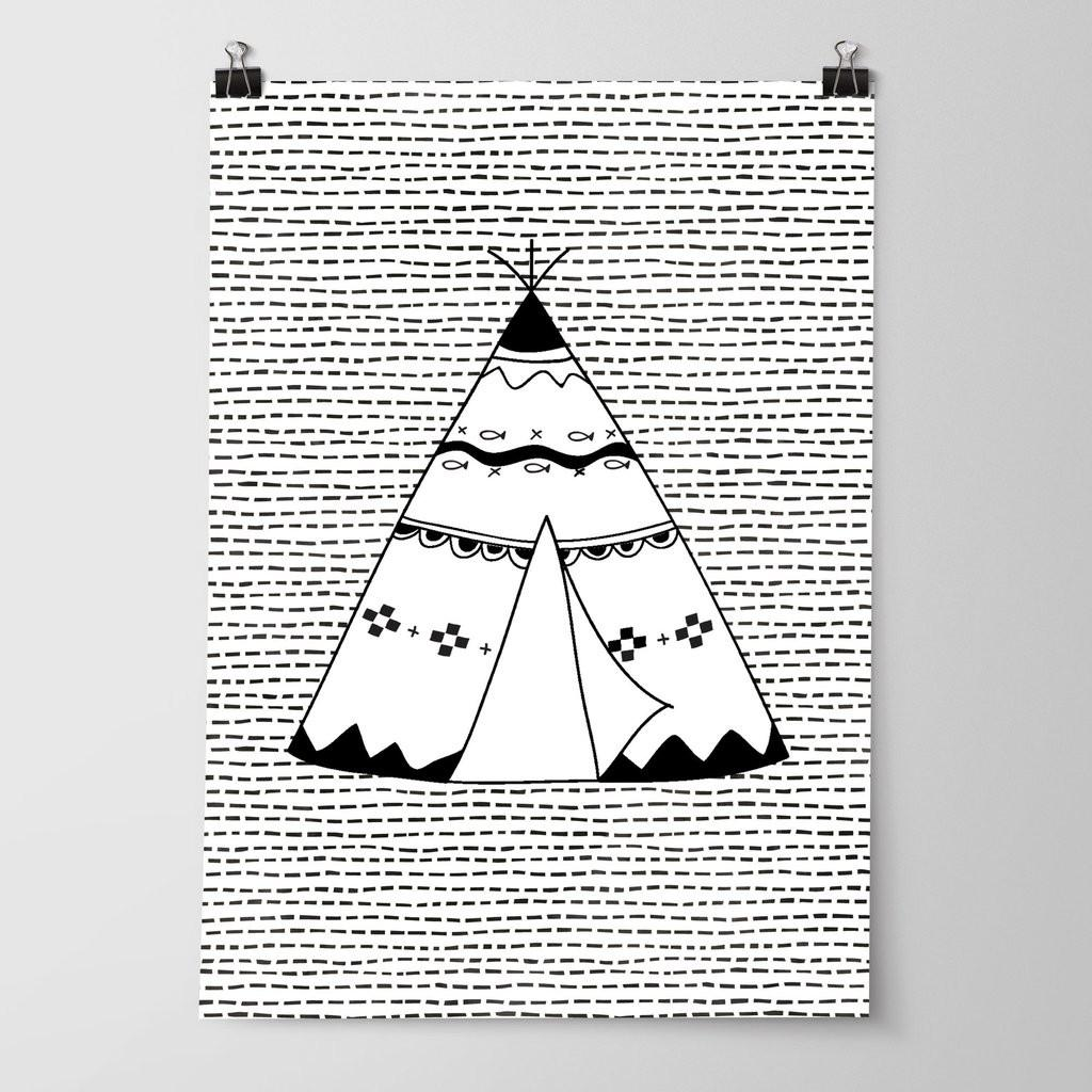 Boys Tribal Print Set Monochrome Nursery Bedroom