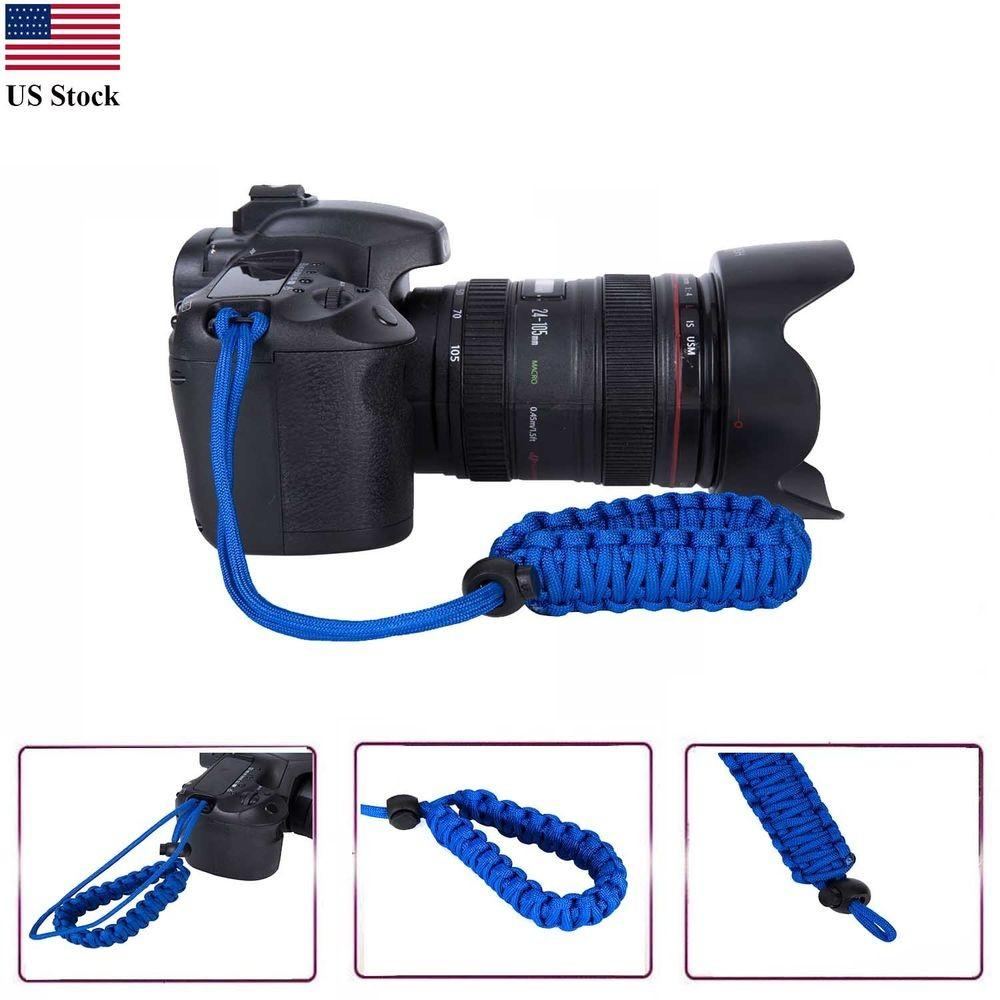 Braided 550 Paracord Adjustable Camera Wrist Strap Diy