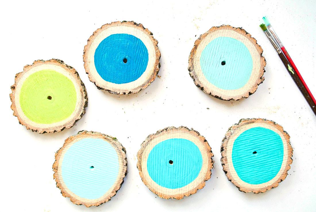 Branch Out Turn Log Into Cute Ombre Coasters Brit