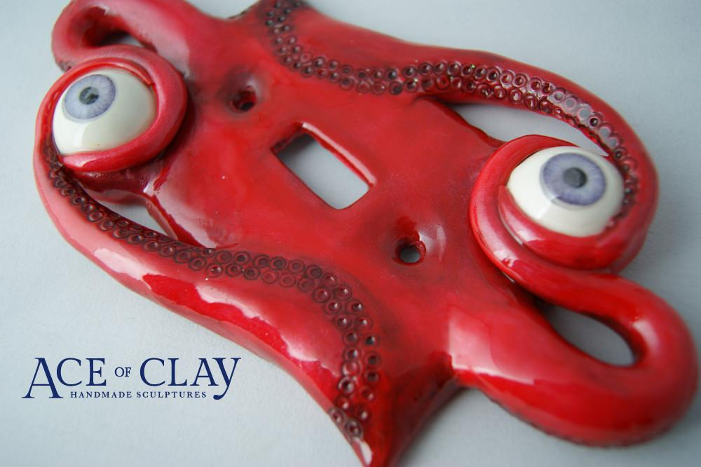 Brand New Ace Clay Candy Red Sci Light Switch Cover